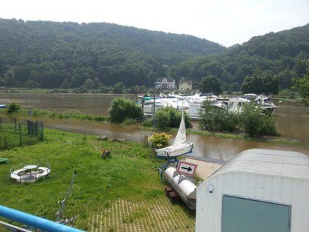 Hochwasser Bootsschule Koblenz